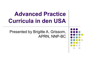 Advanced Practice Curricula in den USA (klick)