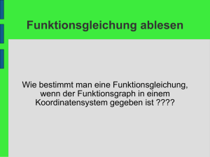 Funktionsgleichung ablesen - GMS