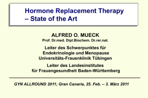 Hormone Replacement Therapy – State of the Art ALFRED O