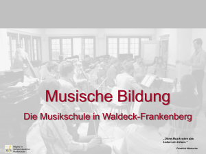 Power-Point-Präsentation - Musikschule Frankenberg