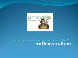 Struktur des Aufbaustudiums - Mercator School of Management