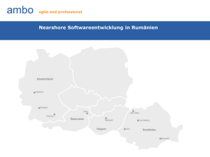 Nearshore Softwareentwicklung in Rumänien