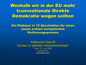 transnationale Direkte Demokratie in der EU