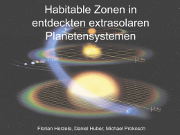 HZs of detected extra-solar planetary systems