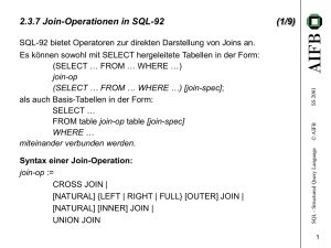 2.3.7 Join-Operationen in SQL-92