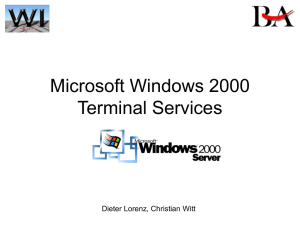 Windows 2000 Terminal Services