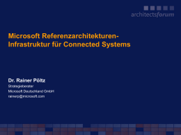 Windows Server System Referenz Architektur