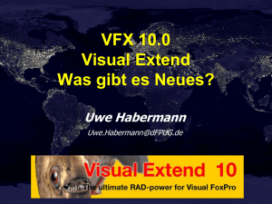 Visual Extend 10.0 – Was gibt es Neues? - dFPUG