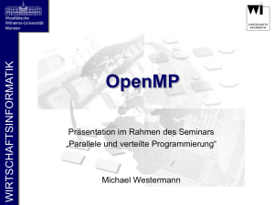 "OpenMP ""Open specifications for Multi"