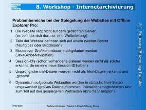 8. Workshop - Internetarchivierung