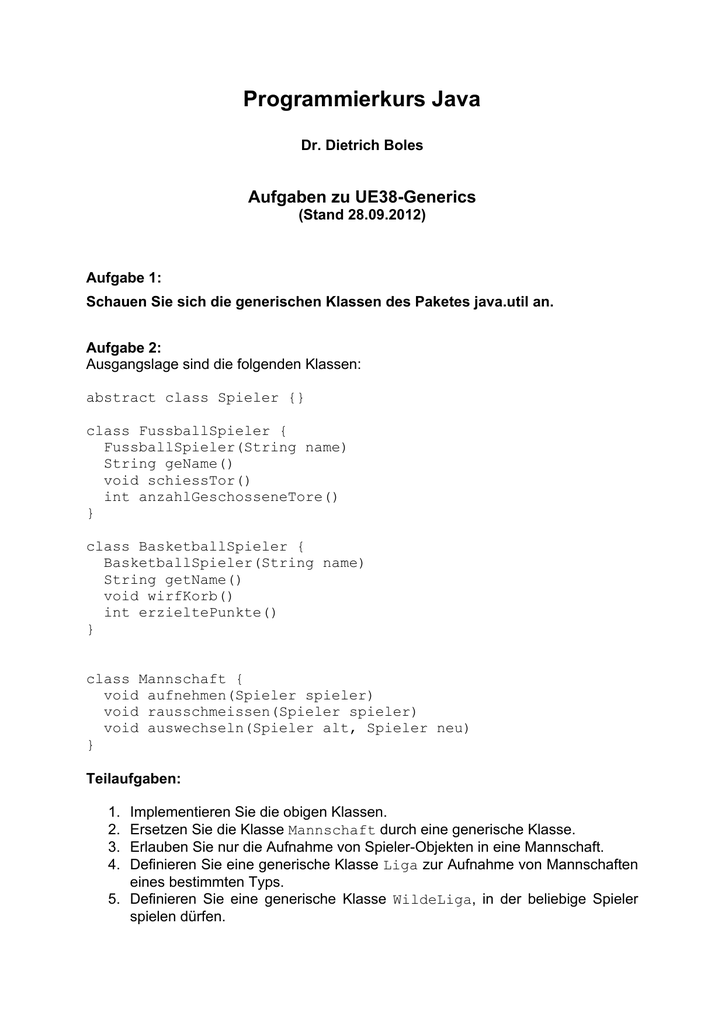 pdf - Programmierkurs Java