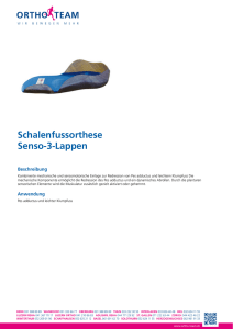 Schalenfussorthese Senso-3-Lappen - Produktewelt - ORTHO-TEAM