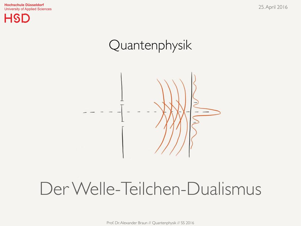 Teilchen Welle Dualismus