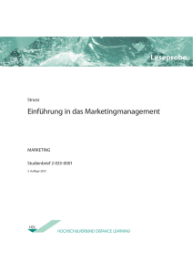 Einführung in das Marketingmanagement Leseprobe