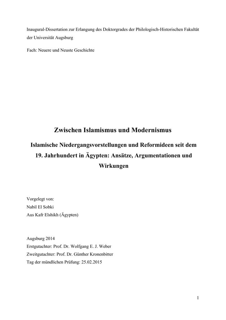 87b0a5f5630605 Zwischen Islamismus und Modernismus  Islamische