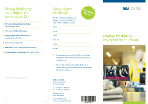 Display Marketing Bewegend mehr Umsatz Display