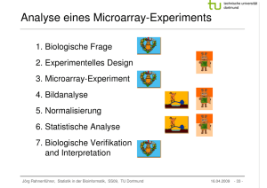 Analyse eines Microarray-Experiments