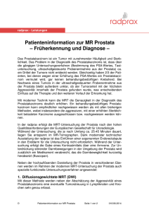Patienteninformation zur MR Prostata