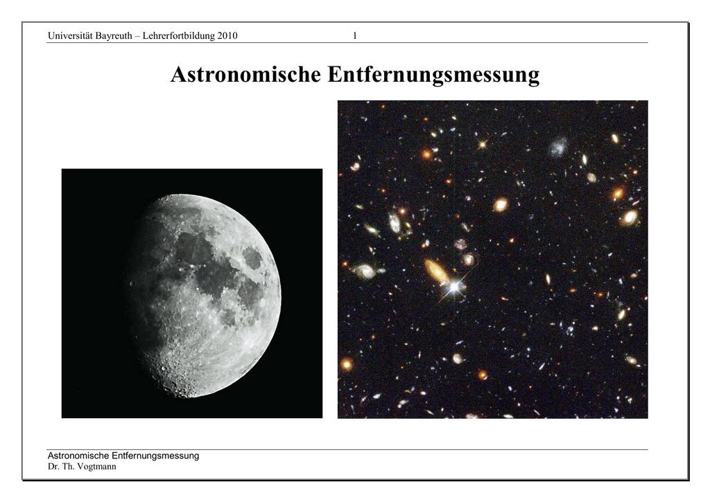 Entfernungsmessung Mit Cepheiden : Entfernungsmessung mit supernovae in der