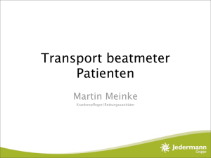 Transport beatmeter Patienten