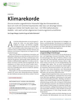 Klimarekorde - Potsdam Institute for Climate Impact Research