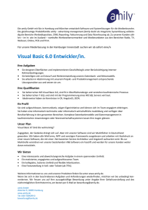 Visual Basic 6.0 Entwickler/in.
