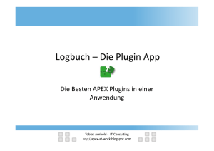 Oracle APEX Plugins - Die besten APEX Plugins in einer