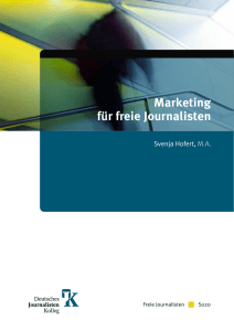 Marketing für freie Journalisten
