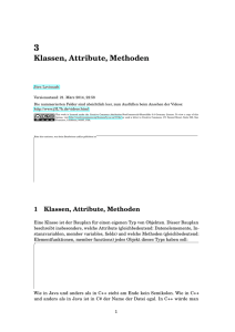 Klassen, Attribute, Methoden
