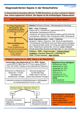 Sepsis Diagnostic Checklist