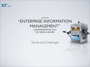 """ENTERPRISE INFORMATION MANAGEMENT"""