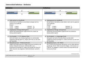 Inflation - Deflation - Learning by surfing
