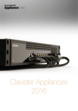 Clavister Appliances 2016