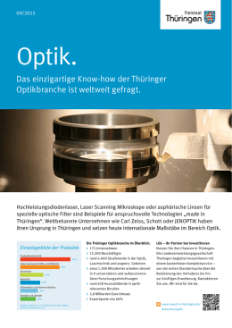 Optik. - Invest in Thuringia