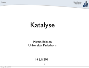 Katalyse - Universität Paderborn