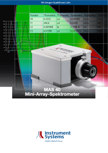 MAS 40 Mini-Array-Spektrometer