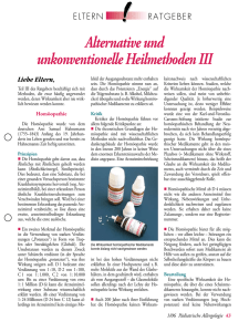Alternative und unkonventionelle Heilmethoden III