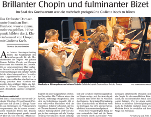 Brillanter Chopin und fulminanter Bizet