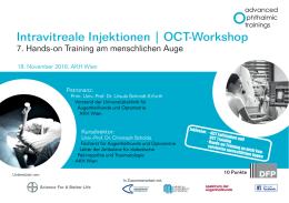 Intravitreale Injektionen | OCT-Workshop
