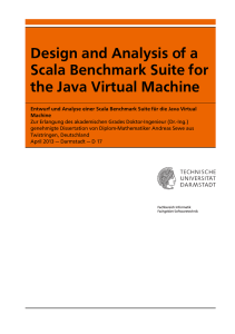 Design and Analysis of a Scala Benchmark Suite for the