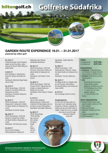 South Africa Golf Reise Januar 2017