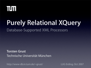 Purely Relational XQuery