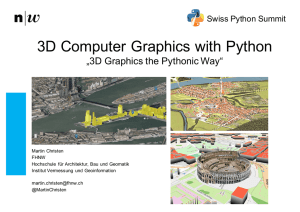 3D Computer Graphics with Python