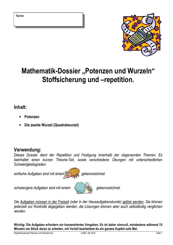 Fein Primfaktorzerlegung Exponenten Arbeitsblatt Galerie ...