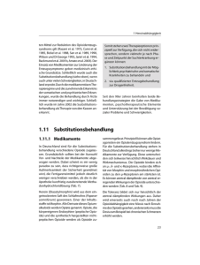 1.11 Substitutionsbehandlung