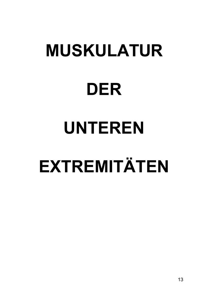 Charmant Muskel Der Unteren Extremität Bilder - Anatomie Ideen ...