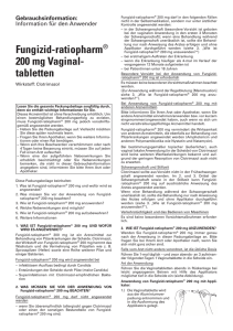 Fungizid- ratiopharm® 200 mg Vaginal- tabletten
