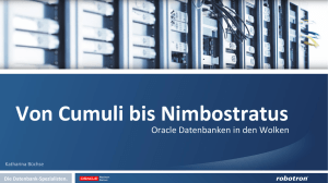 Oracle Datenbanken in den Wolken