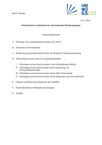 Demokratische Legitimation der internationalen Rechnungslegung