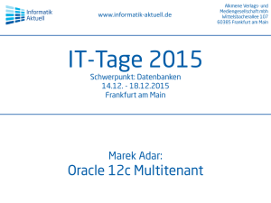 Marek Adar: Oracle 12c Multitenant